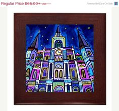 30% OFF Today New Orleans Art Framed Ceramic by HeatherGallerArt