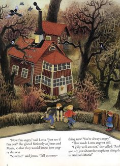 Lotta on iloinen I Lotta's Easter Suprise by Astrid Lindgren I illustrated by Ilon Wikland (via nordic thoughts)