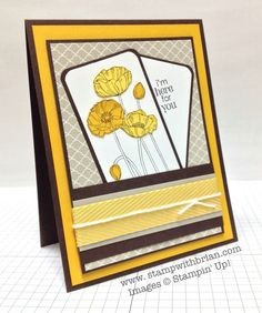Pleasant Poppies, Petite Pairs, Stampin' Up!, Brian King, PPA197
