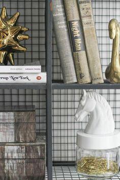 @Jaren Jaren Living Giveaway from @Danielle Lampert Moss Home Tour // home decor // living room // shelf styling // gold // white // photography by @Danielle Lampert Moss