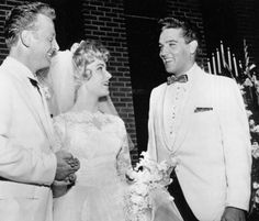 Elvis at the wedding of Red and Pat West on July 1, 1961