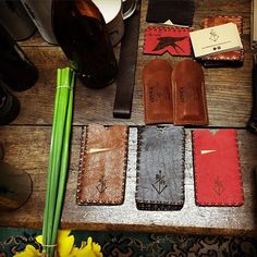 Dropped off a few new leather goods @sitkanz today, had a few yarns with Andrew and stroked a beautiful @hc_surfboards just to feel the curves. Life's not bad. #surf #skate #snowboard #original #leather #surfgood #wallet #maker #nz #fathersday