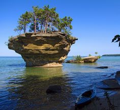 Kayak at Turnip Rock by Pure Michigan via Flickr. Used to go see this at the tip of the thumb when I was a kid.