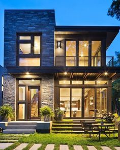 Lake Calhoun Organic Modern home was constructed by premier homebuilders John Kraemer and Sons in Minneapolis, Minnesota.This Lake Calhoun Organic Modern home was constructed by premier homebuilders John Kraemer and Sons in Minneapolis, Minnesota. Future House, Organic Modern, Modern Exterior, Exterior Colors, Exterior Paint, Stone Exterior, Exterior Stairs, Siding Colors, Exterior Siding