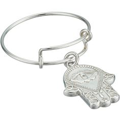 Alex and Ani Precious Expandable Wire Ring (Silver Hand of Fatima)... ($38) ❤ liked on Polyvore featuring jewelry, rings, wire jewelry, charm jewelry, alex and ani, wire rings and silver charms jewelry