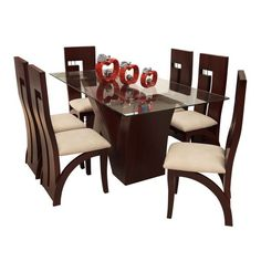 Wooden Dining Table Modern, Dinning Table Design, Dining Room Furniture Design, Living Room Sofa Design, Dining Room Banquette, Farmhouse Dining Room Table, Dining Table Chairs, Wood Restaurant Chairs, Chair Design Wooden