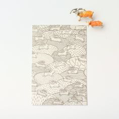 """A6 Lila Ruby King Greeting Card   Envelope """"Colony of Rabbits"""""""