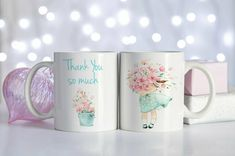 Thank You ceramic coffee mug, Perfect best friend gift, Best Friend birthday gift or Bridesmaid thank you gift, perfect going away gift Bridesmaid Thank You, Bridesmaid Proposal, Bridesmaid Gifts, Bridesmaids, Birthday Thank You, Friend Birthday Gifts, Gifts For Friends, Loyal Friends, Pretty Mugs