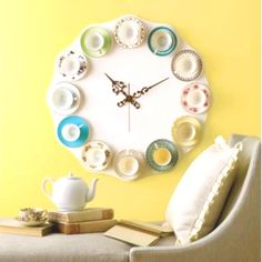 Mad Hatter Tea Party Clock