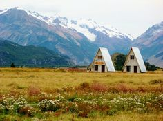 A-frames in the southern Patagonia Andes