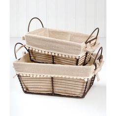 Blossom Bucket 10'' x 7'' Rectangular Basket Set (31 BRL) ❤ liked on Polyvore featuring home, home decor, small item storage, metal home decor, rectangle basket, flower basket, flower stem and blossom bucket