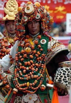 "Tibet | ""Men's ornaments"" | via Press Club of Tibet. Please like www.facebook.co..."