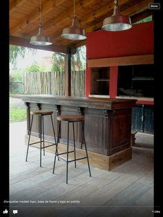 Ideas Breakfast Table Outdoor Rustic For 2019 Parrilla Exterior, Barbecue, Breakfast Nook Table, Casa Patio, Interior And Exterior, Interior Design, Garden Bar, Outdoor Living Areas, Sweet Home