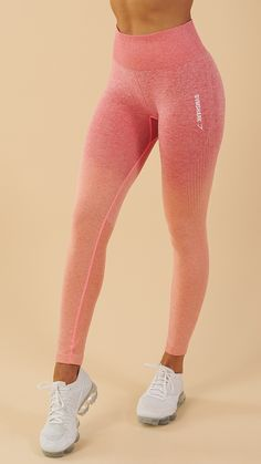Soft and stunning with a second-skin feel, the Gymshark Ombre Seamless Leggings are designed to flatter, support and enhance. Coming soon in Peach Coral.