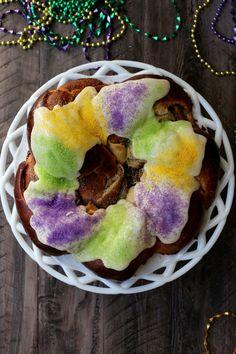 Mardi Gras King Cake // joy the baker