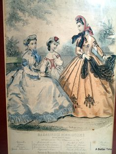 Hey, I found this really awesome Etsy listing at https://www.etsy.com/listing/113499141/antique-french-fashion-plate-1864-by