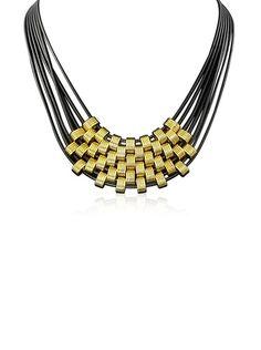 Passiana Black & Gold Leather Necklace, http://www.myhabit.com/redirect/ref=qd_sw_dp_pi_li?url=http%3A%2F%2Fwww.myhabit.com%2Fdp%2FB00RLOMULA%3F