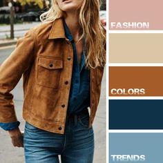 Fashion. Colors. Trends  №19 Denim & Cognac