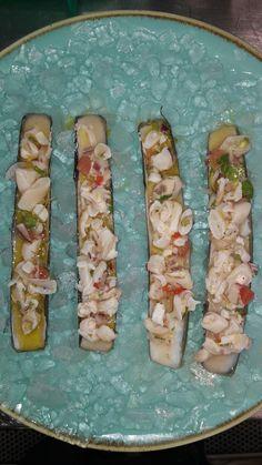 Razor clams ceviche