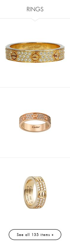 """RINGS"" by aitanas-closet ❤ liked on Polyvore featuring jewelry, rings, multiple, wedding rings, gold band wedding rings, preowned wedding rings, round wedding rings, yellow gold diamond rings, yellow gold wedding rings and pave diamond jewelry"