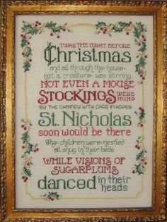 Twas the Night Before Christmas...Sue Hillis