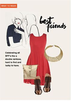 #@limeroad #bestfriends #keepingchic #redgold
