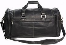 7299c3819ecf David King Deluxe Leather Duffle Bag Leather Duffle Bag