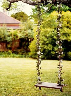 Vine swing- this would be cute for bridal pics or engagement pics.