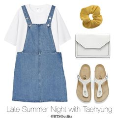 """Late Summer Night with Taehyung"" by btsoutfits ❤ liked on Polyvore featuring Monki, Birkenstock, Forever New and Topshop"