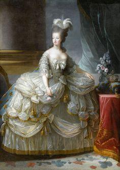 Queen Marie Antoinette 1779-1790, by Elisabeth Louise Vigee Le Brun