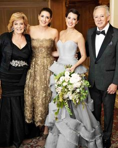 A Stylish Gray-and-Gold Seattle Wedding | Martha Stewart Weddings - The bride…