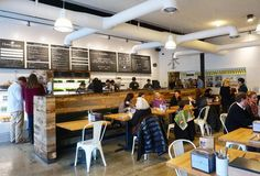 Interior of Homegrown Sustainable Sandwich Shop