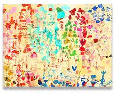 "Saatchi Art Artist: Sarah Giannobile; Acrylic 2015 Painting ""Wisteria Garden"""