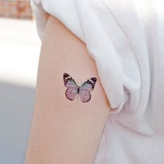 [Freshly Updated] We have put together the Ultimative Butterly Tattoo Collection for Check out our highest rated handpicked Butterfly designs here! Mini Tattoos, Dainty Tattoos, Little Tattoos, Star Tattoos, Cute Tattoos, Beautiful Tattoos, New Tattoos, Color Tattoos, Colorful Butterfly Tattoo