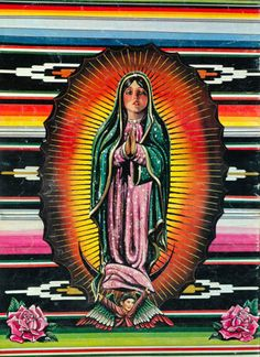 So digging all the amazing burst of colors on this Virgin de Guadalupe!  found on ffffound! via Tumblr