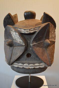 Bembe Janus Casco Máscara Kalunga - Arte Africano exquisito
