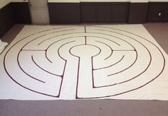 "Details about how I made an inexpensive portable labyrinth, plus an invitation to a free call on ""Lessons from the Labyrinth""."