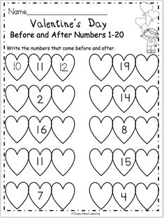 Free Valentine's Day Math Worksheet