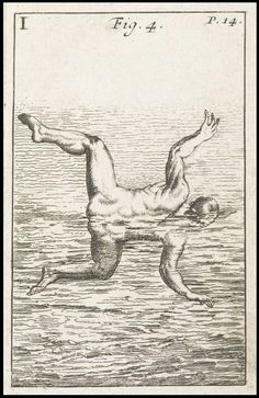 Of the manner of entring into the water. From: The Art of Swimming, Monsìeur Thevenot