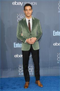 'Mr. Robot' Stars Rami Malek & Christian Slater Impress at 2016 Critics' Choice Awards