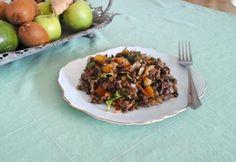 Pak-choi lencsesaláta Pak Choi, Salad, Beef, Recipes, Food, Cilantro, Red Peppers, Meat, Recipies
