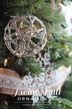 Best DIY Ornaments for Your Tree - Best DIY Ornament Ideas for Your Christmas Tree - Twine Ball Ornaments - Cool Handmade Ornaments, DIY Decorating Ideas and Ornament Tutorials - Creative Ways To Decorate Trees on A Budget - Cheap Rustic Decor, Easy Step by Step Tutorials - Holiday Crafts for Kids and Gifts To Make For Friends and Family http://diyjoy.com/diy-ideas-christmas-tree