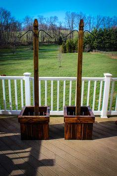 Image result for 4X4 fence post plant basket