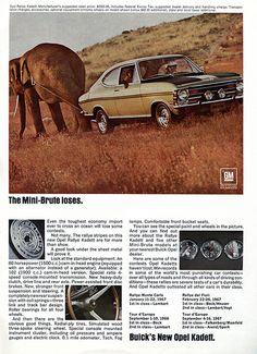 1968 Buick Opel Kadett Advertising Road & Track April 1968