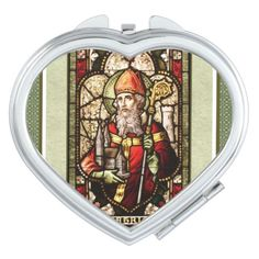 St. Patrick Art Religious Compact Mirror. #StPatrick #Irish  #Religiousgift #CompactMirror #Catholic