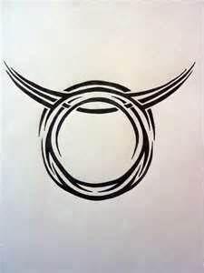 Tribal Zodiac Taurus By Magpievon On Deviantart Free Download Tattoo