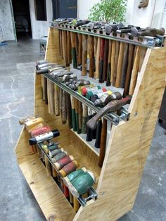 Hammer storage idea. I drool over the diversity!!! I love different hammers!
