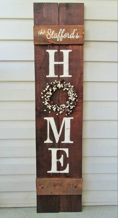 Welcome Porch Sign 5 & # Rustic hand-painted wood reversible option Two signs in ., Welcome Porch Sign 5 & # Rustic Hand Painted Wood Reversible Option Two Signs in One – Cricut, Reclaimed Wood Signs, Diy Wood Signs, Rustic Wood Signs, Pallet Signs, Wood Signs For Home, Diy Pallet, Rustic Decor, Home Porch, House With Porch