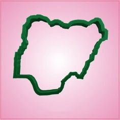 Nigeria Cookie Cutter by Cheap Cookie Cutters. Our Nigeria cookie cutters are approximately 3.5 inches tall, 4 inches wide, and are made of green plastic. Cleaning instructions: hand wash, towel dry.