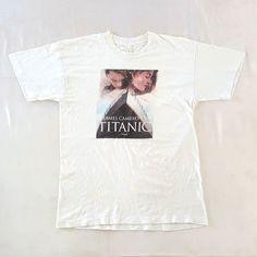 "Vintage 90s Titanic T-Shirt  For sale 39.99 Free Shipping!  PayPal Only fit like Medium (20""28""7"") #vintage #90s #vtg90s #titanic #movies #film #leonardodicaprio #katewinslet #sinkingship #jamescameron #paramountpictures #20thcenturyfox #jackandrose #ship #shipofdreams #bootleg #medium #white"